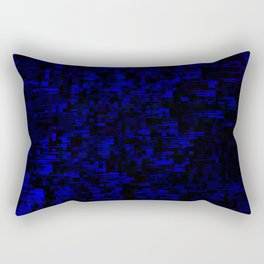 coming together darkly. blue Rectangular Pillow