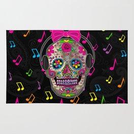 Sugar Skull Music Rug