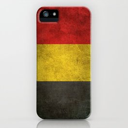 Old and Worn Distressed Vintage Flag of Belgium iPhone Case