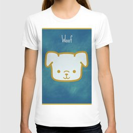 Woof - Dog Graphic - Chalkboard Inspired T-shirt