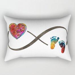 Infinity Symbol Baby Love - Always And Forever - Sharon Cummings Rectangular Pillow