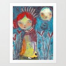 Listen To The Stars Art Print