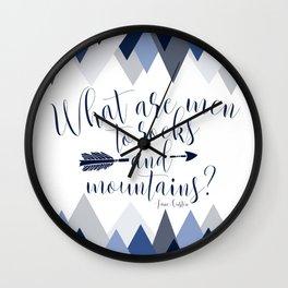 Pride & Prejudice - Mountains Wall Clock