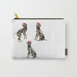 Flower crown Dalmatian Carry-All Pouch