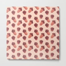 Acorns Pattern Metal Print