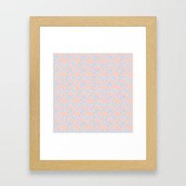 Monstera Tropical Pastel Coral & Lavender Pattern Framed Art Print