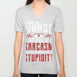 Funny Nurse Gift product, Me Sarcastic You Stupid Gift Tee Unisex V-Neck