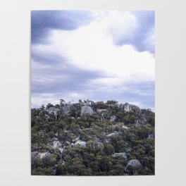Storm Threatened Mountain Poster