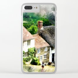 Shaftesbury, England (Watercolor Painting) Clear iPhone Case