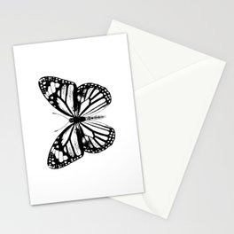 Monarch Butterfly | Black and White Stationery Cards