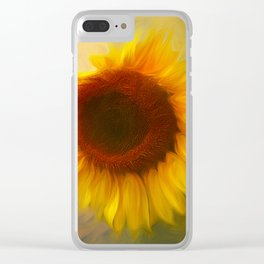 Sunflow Love 2 Clear iPhone Case