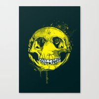 be happy Canvas Prints featuring happy by Steven Toang