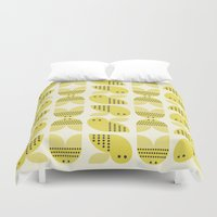bee Duvet Covers featuring Bee  by huemula