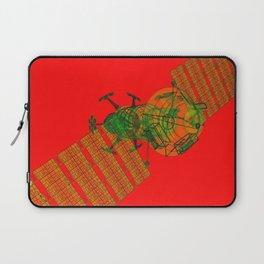 Explorer Schematic Warped Green on Red Laptop Sleeve