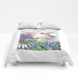 Hummingbird and Bergamot Comforters