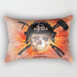 Dallas Fire Dept. - Skull and Irons Rectangular Pillow