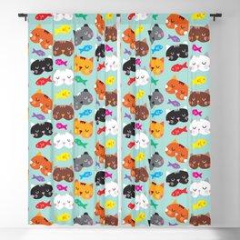 Cats Love Fish I Blackout Curtain