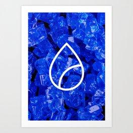 Lapis Lazuli Candy Gem Art Print