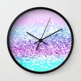 Unicorn Girls Glitter #18 #shiny #decor #art #society6 Wall Clock