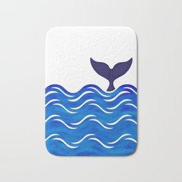Blue Whale Tail Bath Mat