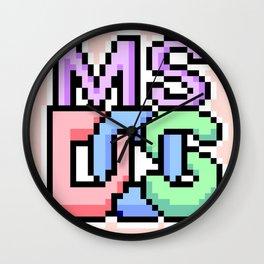 Pastel MS-DOS Wall Clock