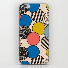 Memphis Inspired Pattern 5 iPhone Skin