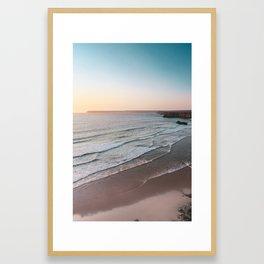 Sunset Beach Print, Sagres Portugal, Printable Photography, Landscape Poster, Waves, Sea Poster Framed Art Print