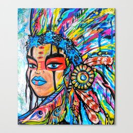Indian Goddess Canvas Print