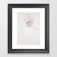 One line Egon Schiele Framed Art Print