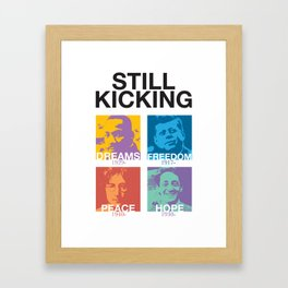 Still Kicking Framed Art Print
