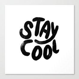 Stay Cool Vintage B&W Canvas Print