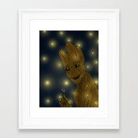 groot Framed Art Prints featuring Groot by Camilla Kipp