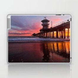 HB Sunsets  3-21-16 - Sunset At The Huntington Beach Pier Laptop & iPad Skin