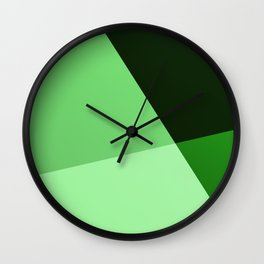 Four shades of green. Wall Clock