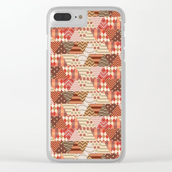 Triangle Fall Autumn Pattern Clear iPhone Case