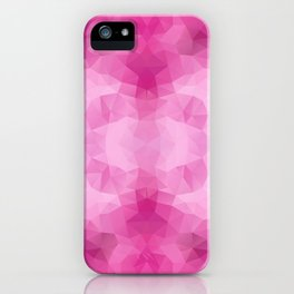 Kaleidoscopic design in pink colors iPhone Case