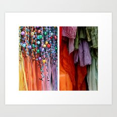Ribbon & Towels Art Print