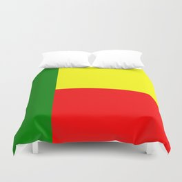 Flag of Benin Duvet Cover