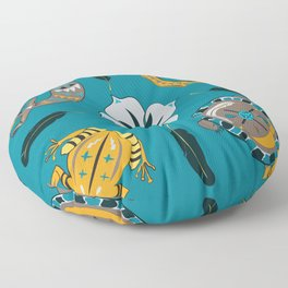 Southwestern Creatures Floor Pillow