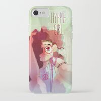 hippy iPhone & iPod Cases featuring Hippy girl by Francesco Malin