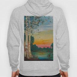 Daybreak at the Pond's Edge by Ainé Daveéd Hoody