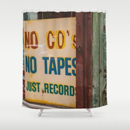 Just Records Shower Curtain