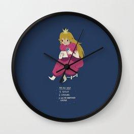 peach t0-do-list Wall Clock