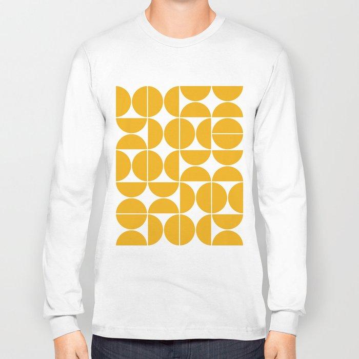 Mid Century Modern Geometric 04 Yellow Long Sleeve T-shirt
