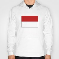 indonesia Hoodies featuring indonesia country flag by tony tudor