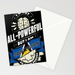 I'm Saint Lucian Proud Country All Powerful Stationery Cards