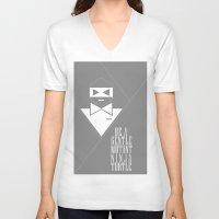 gentleman V-neck T-shirts featuring GENTLEMAN by sophia derosa