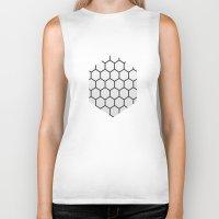 hexagon Biker Tanks featuring Hexagon by Thomas Official