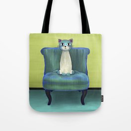 Elegant Cat green Tote Bag