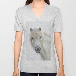 Horse eyes look at you Unisex V-Neck